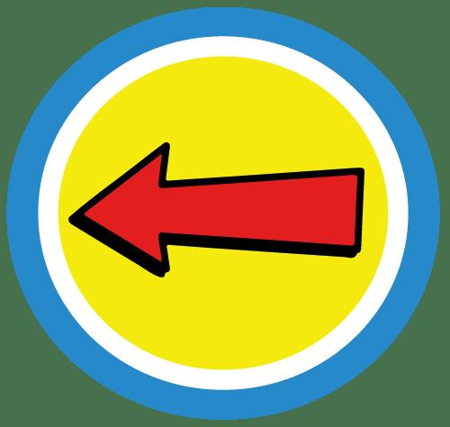 Captain-Hear'O-Kids-Enter-Here-Arrow-Badge